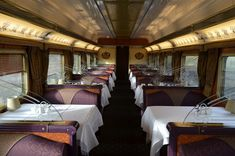 Queen Adelaide Dining Room on the Ghan Train in Australia