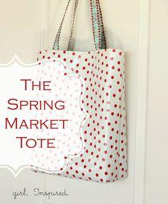 Tote Bag // Sewing Tutorial // By Stephanie Knaus