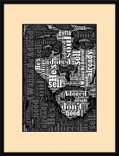 Stone Roses, Ian Brown, Portrait, I Wanna Be Adored, Song Lyrics, Portrait Print, Manchester, Mancunian, Music Gift, Art, Music, High Quality, Personalised, Custom, Wedding Gift, First Dance, Love, Favourite.