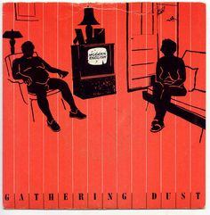 """CvA361. Modern English """"Gathering Dust"""" 7"""" by Vaughan Oliver / 4ad Records 1980 / AD 15 / #Albumcover"""