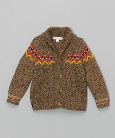 Another great find on #zulily! Brown Sugar Recess Cardigan - Infant, Toddler & Boys #zulilyfinds 25.99 12M