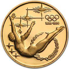 Moneda de oro 200 Dollars Australia 1993 Gimnasta.
