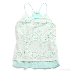 Stitch Fix Style_ Crochet Layer Knit Top_ very pretty love the knitting and colors