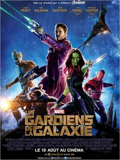 Vin Diesel, Bradley Cooper, Chris Pratt, Zoe Saldana, and Dave Bautista in Guardians of the Galaxy Iconic Movies, Great Movies, Hd Movies, Movies Online, Movie Tv, 2020 Movies, Poster Marvel, Marvel Movie Posters, Disney Movie Posters