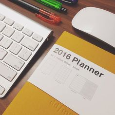 """No amount of technology can compare to the joy of starting a new planner! #2016 #comingsoon #newyear #newbeginnings #planning #somuchtodo #planner #diary #yellow #ochre #rubberbandkit #doeverythingyoulove"" Photo taken by @malavikamj on Instagram, pinned via the InstaPin iOS App! http://www.instapinapp.com (12/30/2016)"