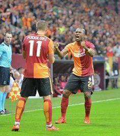 Celebration  assist and goal with my bro @aurelienchedjou21  #galatasaray #cimbom #strassenkicker #poldi #gazver #ChampionsLeague