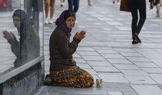 Gypsy begging in Sweden
