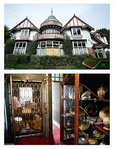 10 Creepy abandoned mansions.  #1 has a very interesting story.  Yorkshire, England. Pineheath House, once the luxury estate of Indian aristocrats, has stood untouched for more than a quarter century. The 40-bedroom, 12-bathroom mansion was once home to shipping magnate Sir Dhunjibhoy and his wife, Lady Bomanji. After Lady Bomanji died in 1986, the house and its contents were abandoned.