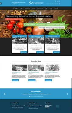 Espresso is a modern #Wordpress #theme for #restaurants or other #business websites. #webdesign #inspiration #template - www.the-webdesign.net