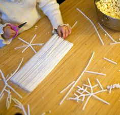 Pipe cleaner snowflakes - so easy but so nice!