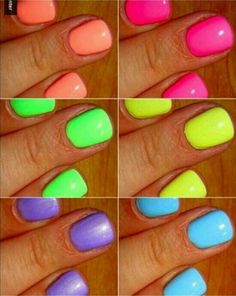 Neon Nail Polishes: I have boosted your confidence to try out the neon nail polish, decide which of the following colors you are going to pick.