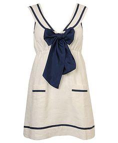 White Sailor Dress