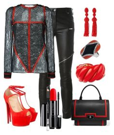 """""""Untitled #484"""" by fasttrack2fashion ❤ liked on Polyvore featuring Givenchy, Marc Jacobs, Lancôme, David Yurman, Oscar de la Renta, Christian Louboutin and The Body Shop"""