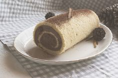 Brazo de crema de chocolate y castañas