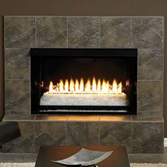 Loft Series Vent-Free Fireplace Insert with Frame - Vent Free Gas Fireplace, Fireplace Inserts, Fireplace Ideas, Fireplaces, Loft, Decor Ideas, Frame, House, Home Decor