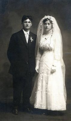 Elden and Katie McIrvin Wedding Portrait 1911:: Clark County Historical Museum Photograph Collection, Washington State