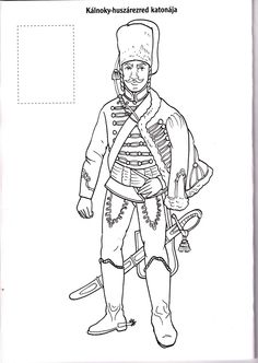 Magyar huszárok Coloring Pages, Colouring, Hand Embroidery, Kindergarten, School, People, Europe, History, Projects