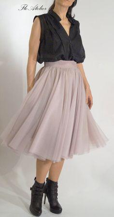 Women Tulle Skirt/Tutu Skirt/Princess Skirt/Skirt/ short Skirt/Light Gray Skirt/Light Gray Tutu Skirt/Ballet Skirt/Grunch Skirt/F1094