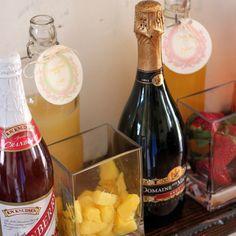 Bridal Shower Idea: Mimosa Bar. #bridalshower #howto