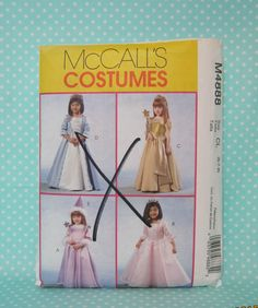 Girl's Princess Costume Pattern. Princess Dress Styles Size: 6-7-8. McCall's  P4888. Factory Folded. Cheap Pattern. Cheapest shipping. by FashionSew on Etsy