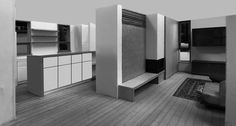 キッチン 薪ストーブ 検討模型