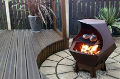 Dodecahedron Fire Pit   BritList