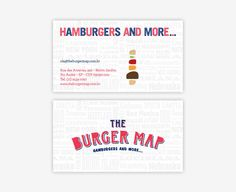 The Burger Map brand identity design  texture behind
