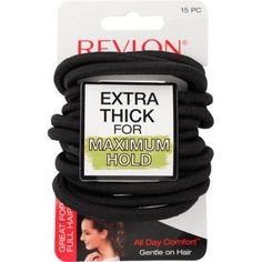 (2 Pack) Revlon Extra Thick Elastic Hair Bands 6d38d0838ed