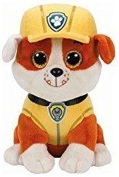Ty Paw Patrol Rubble Bulldog Reg Plush Toys Games Peluches Ty Beanie Beanie Boos