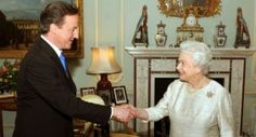 The Queen receives Prime Minister David Cameron for an audience at Buckingham Palace © PA Wire, Photographer: John Stillwell