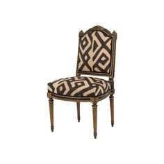 I don't know what I love more in this chair if the chair itself or the African Kuba cloth used to upholster it. More Related Articles Living with hats Nektar De Stagni Necklaces Obsession; African Home Decor, Decor, Side Chairs, Furniture, Chair, African Decor, Cool Chairs, Chippendale Chairs, Furniture Chair