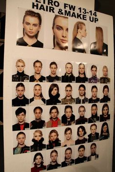 Moodboards and models backstage at the Etro Woman Autumn Winter 13-14 Fashion Show