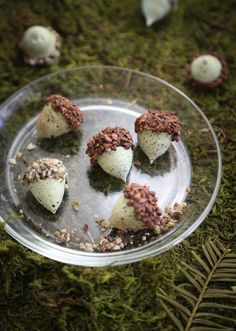 Mint-green acorn cookies make the loveliest finishing touch for holiday meals. Read how to make them on the Etsy Blog. #DIY