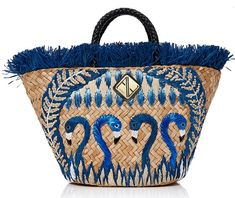This **Aranáz** Rosario Tote is rendered in seagrass and features braided leather handle and raffia flower details. Fringe Fashion, Women's Fashion, Fairytale Fashion, Chanel Paris, Vintage Bags, Bird Prints, Filipino, Leather Handle, Straw Bag