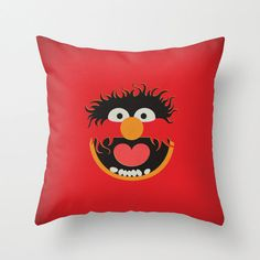 ANIMALLLLLLL! Tatum must have this! The Muppet Show Animal Minimalist Pillow Cushion  by TheRetroInc, $29.00