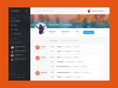 Class Management App | Admin Profile UI Design