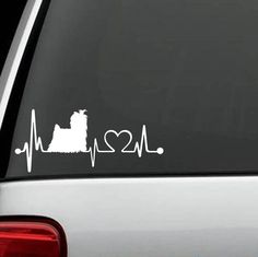 Yorkshire Terrier Heartbeat Decal