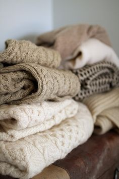 Felting Projects From Old Sweaters | to felt the sweaters cut seams off the sweaters open