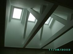 Synlige gitterspær Exposed Trusses, Roof Trusses, Roof Ceiling, Farmhouse Kitchen Island, Light Well, Roof Light, House Roof, Modern Industrial, Modern Farmhouse