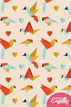 Patrícia Capella // origami bird pattern