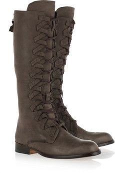 Esquivel  Lace-up leather knee boot - I like these...maybe as an occassional pair...still looking for an everyday boot!