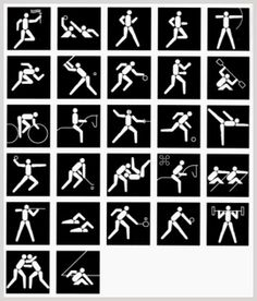 olympic pictograms, los angeles, 1984, designed by Keith Bright