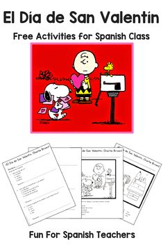 Elementary Spanish Valentine's Day Activity Packet - Goes with Be My Valentine, Charlie Brown Learn Spanish Free, Spanish Lessons For Kids, Spanish Basics, Spanish Lesson Plans, Spanish Activities, Spanish Games, Learning Activities, Spanish 1, Spanish Numbers