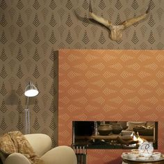 Our Stitched Arrows Wall Stencil from the new Christine Joy Design Stencil Collection brings tribal pattern and African design to your home decor projects. Use
