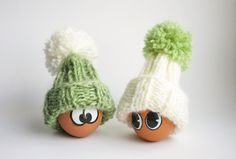 Easter Egg Cozies  Set of 2 White and Green Egg by MapleApple, $9.99