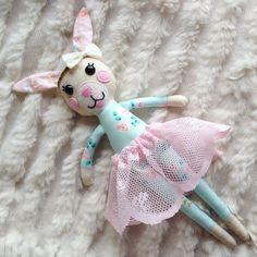 Bea the bunny mini bunny doll, cloth bunny cloth doll fabric bunny fabric bunny doll bunny rabbit
