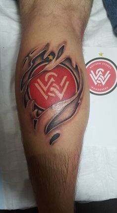 Western Sydney Wanderers - by James from Distinktion Tattoo Woonona AUS