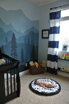 Maddox S Mountain Nursery Boy Room Baby Room Decor Baby Boy Rooms Nursery Painting Ideas Pictures Of Nursery Wall Painting Tips For Calming Blue And White Nursery Baby Boy Nurseries…Read more of Baby Boy Room Painting Ideas Baby Bedroom, Baby Boy Rooms, Baby Boy Nurseries, Nursery Room, Kids Bedroom, Room Baby, Baby Room Green, Girl Nursery, Girl Room