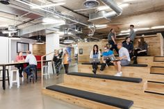 Browse and discover thousands of office design and workplace design photos - tagged and curated to make your search faster and easier. Workspace Design, Office Workspace, Office Interior Design, Office Interiors, Office Lounge, Open Office, Cool Office, Student Lounge, Office Ideas