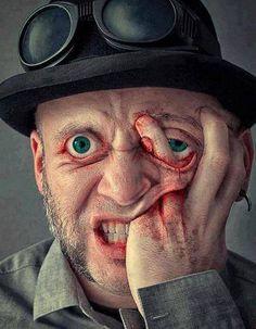 something, eye, gore, art illustration